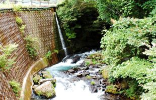 流れでた岩清水が大きな川となる。