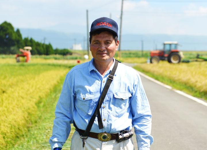 生産者の五嶋義行さん。有機農家であり、市議会議員でもある。